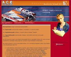 Ace nyelvtúra weboldal nyitólap