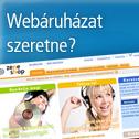 Webáruház olcsón, webshop szinte azonnal!