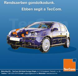 A puzzle darabokból álló TecCom hirdetés