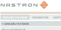 Nastron Kft. bemutatkozó weboldal tervezés