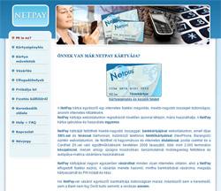 Netpay weboldal grafika és XHTML programozás