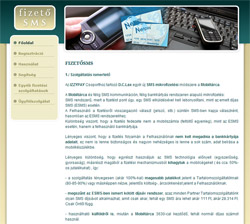 FizetőSMS weboldal grafikája